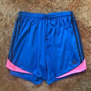 Adidas Blue & Pink Gym Shorts